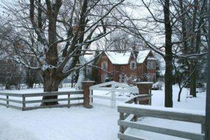 snowy property