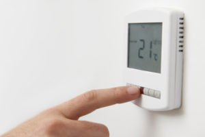 thermostat at 21 degrees